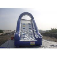 Buy cheap Splash Pool Inflatable Water Slide / Rental Inflatable Climbing Wall And Slide from wholesalers