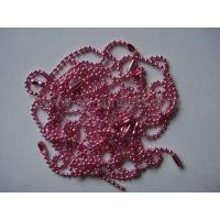 Wholesale Colored ball chain, metal ball chain, pink ball chain, bead chain, fastener from china suppliers