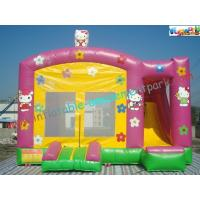 Buy cheap Hello Kitty Rent Inflatable Bouncer Slide , Castle With Slide For Childrens from wholesalers