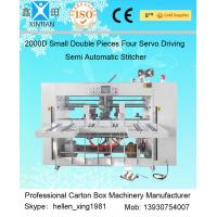 Buy cheap Double Pieces Carton Box Stitching Machine Manual Feeding 60 Pcs / Min from wholesalers