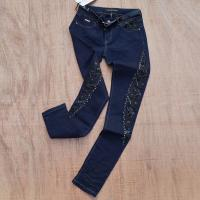 Buy cheap women denim with lace decoration in leg,pants manufactory from wholesalers