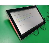 China 10 Inch Glass Wall Installation Android PoE Tablet Customized Adjustable Red Green Blue LED Light Indicator Side Bars on sale