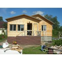 Buy cheap Steel Structure Modern Wooden Log Houses , High Insulation Prefabricated Bungalow Homes from wholesalers