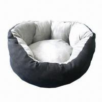 Buy cheap Suede Dog Bed, Removable Cover for Machine Wash, Anti-slip Bottom, Various Sizes product