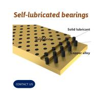 Buy cheap Solid Bronze Self Lubricating Bearing | Graphite Slide Wear Plate from wholesalers