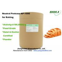 Wholesale High Activity Enzymes In Baking Industry , Solid Powder Neutral Protease 8% Moisture from china suppliers