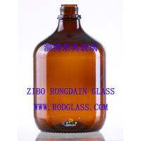 China 2.5L amber chemical reagent glass bottle,big capacity on sale