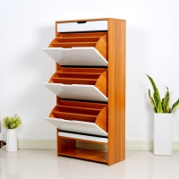 Buy cheap Height 147cm Color Matching Shoe Cabinet 3 Layer EU MDF Melamine from wholesalers