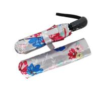 Buy cheap Attractive Flower Printing 3 Compact Auto Open And Close Umbrella With Oil Cloth from wholesalers