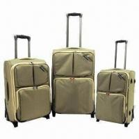 Wholesale 3 Pieces Luggage Set with In-line Skate Wheels, Made of 1680D Polyester from china suppliers