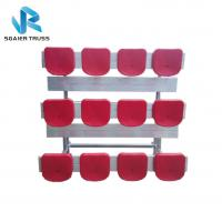 Buy cheap Straight 5 Row Bleachers , Fireproof Portable Aluminum Bleachers With Foot Pads / Plastic Seats from wholesalers