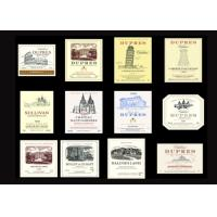 Buy cheap Transparent Paper Waterproof Wine Labels Anti - Ultraviolet UV Coating Craft from wholesalers