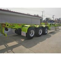 Buy cheap 3 Alexs 48ft Container Skeleton chassis tesile steelsemitrailer from wholesalers