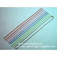 Buy cheap Pre-cut steel ball chain lanyard with coupling for diy jewelry chain from wholesalers