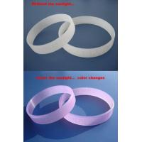 Buy cheap UV silicon bracelet from wholesalers