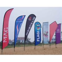 Buy cheap Eye Catching Teardrop Beach Advertising Flag Banners , Custom Made from wholesalers