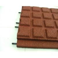 Buy cheap Eco Friendly Children Rubber Mat Flooring Outdoor Red Safety from wholesalers