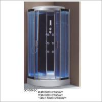 China Free Standing Simple Shower Room Cabin With Computer Control Panel on sale