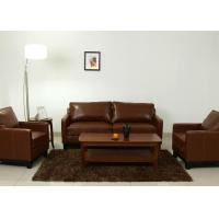 Buy cheap Leather + Wooden Sofa Designs upholstery furniture For office waiting room from wholesalers