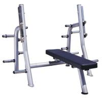 High Performance Power Exercise Equipment Flat Press Bench With Smooth Outline