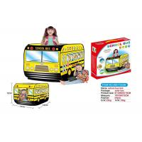 Buy cheap School Bus Shaped Children's Pop Up Toy Tent , Foldable Pop Up Playhouse Tent product