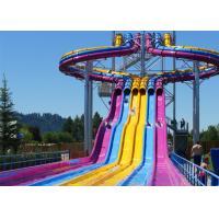 Fiberglass Swimming Pool Water Slides , Playground Water Slides For Kids