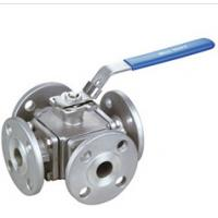 Wholesale 4 Way Flanged Ball Valve CL150 Pressure 1/2 - 3 Size High Performance from china suppliers