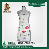 Womens / Mens Home Cooking Cotton Bib Aprons Vegetable Printed 70x80cm Manufactures