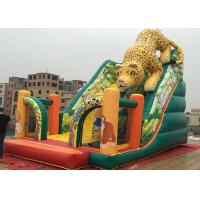 Buy cheap Outdoor Kids Amusement Park PVC Animal Slide Leopard Inflatable Ground Slide product