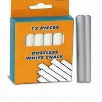Wholesale Dustless White Chalk, Suitable for Teaching and Marking, Conformed to ASTM/F963/EN71-3 Standards from china suppliers
