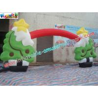 Wholesale CE / UL Blower , Inflatable Christmas Decorations Tree Arch For Festival Event from china suppliers