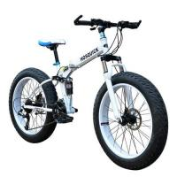 Buy cheap 21 Speed Fat Tire Mtb Bike Foldable Beach Bicycle Wheels 26 Inch Fat Tire snow folding Bikes from wholesalers