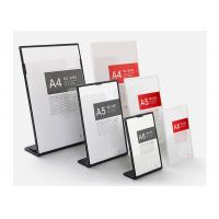 Buy cheap Laser Cutting Custom Acrylic Sign Holder , Acrylic Tabletop Display Stands from wholesalers