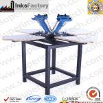 Buy cheap Screen Printer 4 Color 4 Plates screen printing machine screen printing press semi automatic scree printing machine 4 co from wholesalers