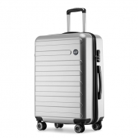 Wholesale ABS Hardside Fashion Silver Travel Luggage Sets from china suppliers