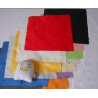 Buy cheap Customized Printed Colorful Pure Cotton / Fibre / Sheepskin Glass Cleaning Cloth from wholesalers