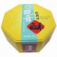 Buy cheap Special octagonal tin box for packing cookies, biscuits and chocolate from wholesalers