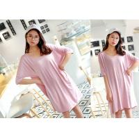 Buy cheap Breathable Sleep Lounge Nightwear Cotton Pajamas Pink Color Quick Dry from wholesalers