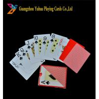 Buy cheap Poker Size Standard Index Jumbo Playing Cards / 100% Plastic Casino Grade Playing Cards from wholesalers
