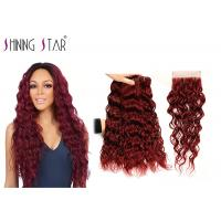 Buy cheap Prevent Shedding Water Wave Hair Extensions Double Drawn Strong Machine Weft from wholesalers