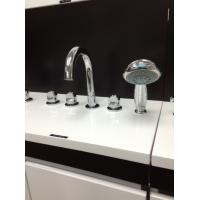 Buy cheap Ceramic Deck Mount Tub Faucet Brass Polished Chrome Bathtub Mixer Tap for Bathroom from wholesalers