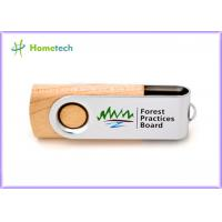 China Storage Logo Printing wooden pen drive , small 16gb usb 2.0 flash drive high speed on sale