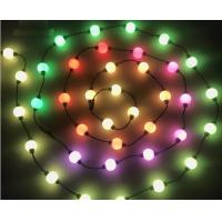 Buy cheap 10 ft reel DMX 24v 50mm RGB pixel led light strings globe 3D balls for outdoor decoration project from wholesalers