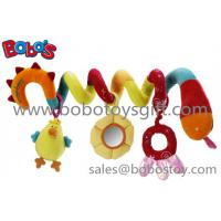 China Colorful Plush Baby Bed Hanging Toys Plush Baby Stroller Toys on sale