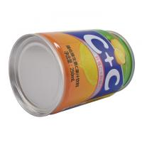 Buy cheap 240ml 400ml 3PC Metal Tin Can Canned Food Packaging Round CMYK Body Printing from wholesalers