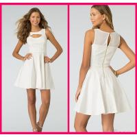 A Line Short Long Homecoming Dresses Ivory Saton Zipper , Evening Party Gown Manufactures