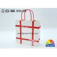 Wholesale Personalized Recyclable White Custom Paper Shopping Bags With Red Rope Handle​ from china suppliers
