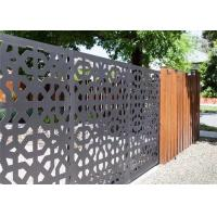 Buy cheap CNC Geometric Laser Cut Decorative Metal Panels  , Laser Cut Screen Panels For Hand Rail Screen from wholesalers