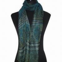 Wholesale Cashmere-like Scarf, Customized Specifications are Accepted, Measuring 67x178cm+10 x 2cm from china suppliers