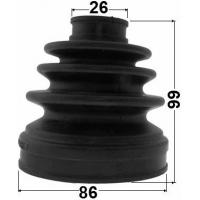 Buy cheap 413ST34000 Suspension Automotive Rubber Boot Inner Cv Joint Kit HYUNDAI from wholesalers